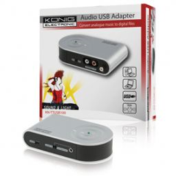 Compacte USB audio adapter.