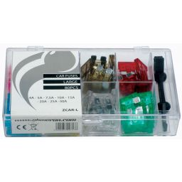 Assortiment miniatuur auto zekeringen - 2A tot 20A - 80pcs