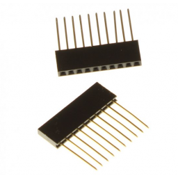 Connectorrij 1 x 6 pin male female - 2 stuks - P2.54