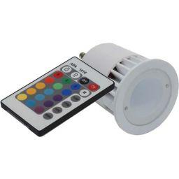 Ledlamp GU10 1x5W RGB 230V - met afstandsbediening ***