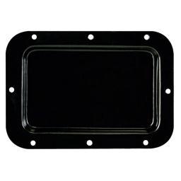 Inbouwplaat, zwart metaal, 126 x 179mm, geen openingen