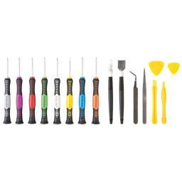 16-delige set met *** precisieschroevendraaiers voor Iphone4, iphone4s, ipad & andere mobiele toestellen