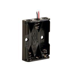 Batterijhouder voor 3 x AAA-cel met draadaansluiting