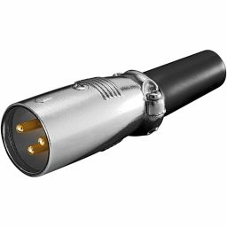 3-polige XLR stekker - Mannelijk - voor op kabel - Low cost