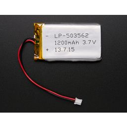 Lithium Ion polymer battery 3,7V 1200mAh