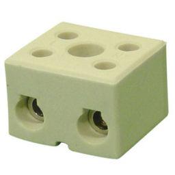 Keramische lusterklem 2-polig 4mm² 5-32A 450V Porcelein
