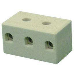 Keramische lusterklem 3-polig 4mm² 5-32A 450V porcelein