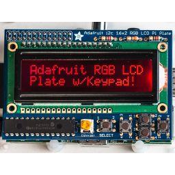 Adafruit RGB negative 16x2 LCD + keypad kit voor Raspberry Pi