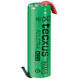 Herlaadbare AA-batterij met soldeerlippen - Ni-MH - 1,2V 2100mAh