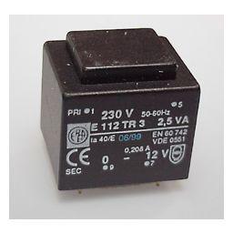 Printtransformator 2,5VA 2x12V 125mA