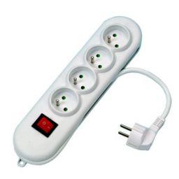 4-voudig stopcontact met 3m snoer en schakelaar