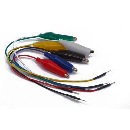 Set met 6 jumper wires naar kroko klem - 6 kleuren