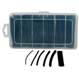 Set thermische krimpkous 10cm 39 pcs - zwart - met lijm
