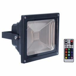 50W RGB Floodlight Black met afstandsbediening