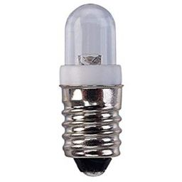Ledlamp - E10-socket - 12VDC - Wit - Ø9.5 x 28mm