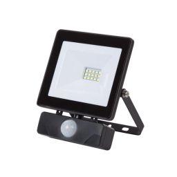 LED Schijnwerper met PIR voor buitenshuis - 10W Neutraal Wit - Zwart