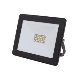 LED Schijnwerper voor buitenshuis - 20W Neutraal Wit - Zwart