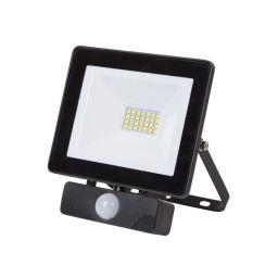 LED Schijnwerper met PIR voor buitenshuis - 20W Neutraal Wit - Zwart