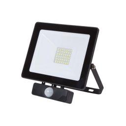 LED Schijnwerper met PIR voor buitenshuis - 30W Neutraal Wit - Zwart