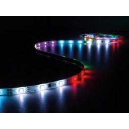 Kit met digitaal geanimeerde led-strip, controller en voeding - RGB - 150 leds - 5 m - 12 VDC - XM161