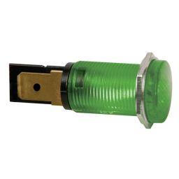 Ronde signaallamp 14mm - 12V - Groen