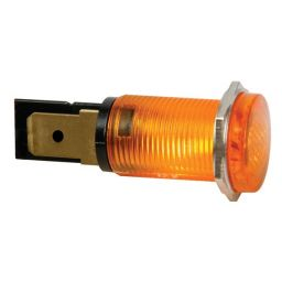 Ronde signaallamp 14mm 230V oranje
