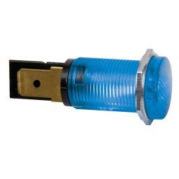 Ronde signaallamp 14mm 230V blauw