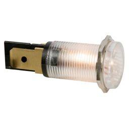 Ronde signaallamp 14mm 230V transparant