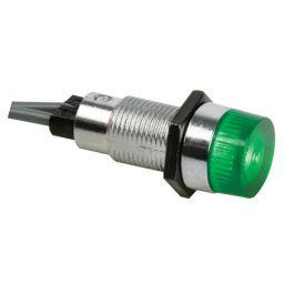 Ronde signaallamp 13mm 230V groen