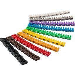 Kabelmarkeerclips  'Digits 0–9'  voor kabel diameter tot 2.5 mm