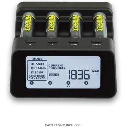 Professionele batterijlader/ analyzer. voor AA en AAA batterijen. Nieuw model