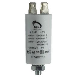 Motor run capacitor 2,5 µF 30x57mm 450Vac 5%  85°C
