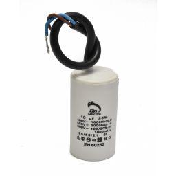 Motor run capacitor 10 µF 35x60mm 450Vac 5%  85°C