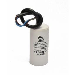 Motor run capacitor 12,5 µF 35x70mm 450Vac 5%  85°C