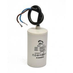 Motor capacitor 16 µF - kabel 40x70mm 450Vac 5%  85°C