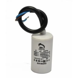 Motor run capacitor 2.0 µF 30x50mm 450Vac 5%  85°C