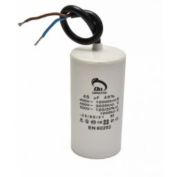 Motor run capacitor 45µF 50x92mm 450Vac 5%  85°C
