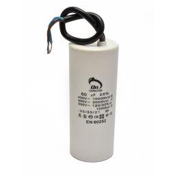 Motor run capacitor 60 µF 50x120mm 450Vac 5%  85°C