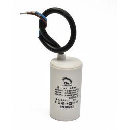 Motor run capacitor 8 µF 35x60mm 450Vac 5%  85°C