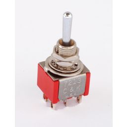 C&K Toggle switch (On) - On dubbelpolig  ***