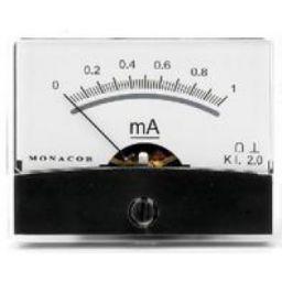 Analoge kwaliteitspaneelmeter 1mA DC / 60 x 47mm