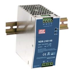 Compacte Industriële voeding DIN-RAIL Meanwell 24V 240W