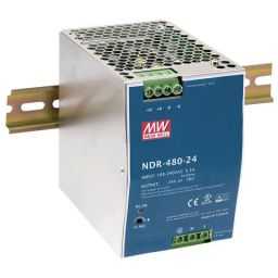Compacte Industriële voeding DIN-RAIL Meanwell 24V 480W.