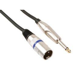 Professionele xlr kabel,xlr mannelijk naar monojack 6.35mm mannelijk (6m)