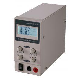 Compacte labovoeding met LCD display - 0-30V / 0-3A enkel