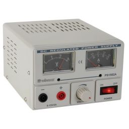 Laboratoriumvoeding 0-15V met 2 analoge meters