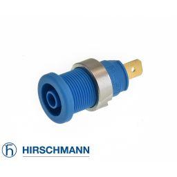Geïsoleerde stekkerbus - Blauw - 4mm - Hirschman