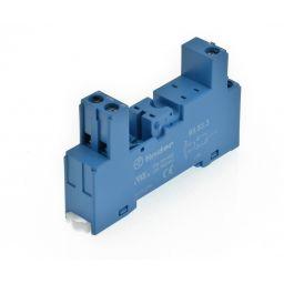 Voet DIN rail voor enkelpolige relais - schroefconnecties