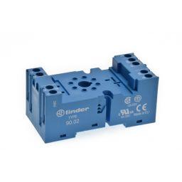 Din Rail socket voor REL90 8p Afmetingen: 77,5x38x33,5mm