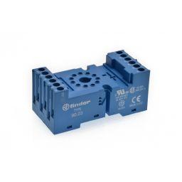 Din Rail socket voor REL92 11p Afmetingen: 77,5x38x33,5mm